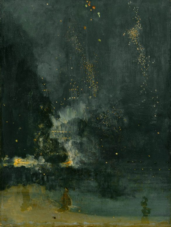 Nocturne in Black and Gold – The Falling Rocket, James Abbott McNeill Whistler, 1874